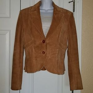 Cache vintage suede jacket rust color size 10